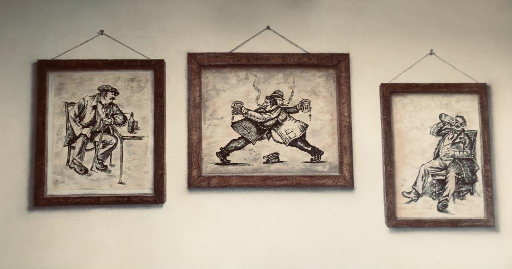 Freska na steni, Gostilna Pri planincu
